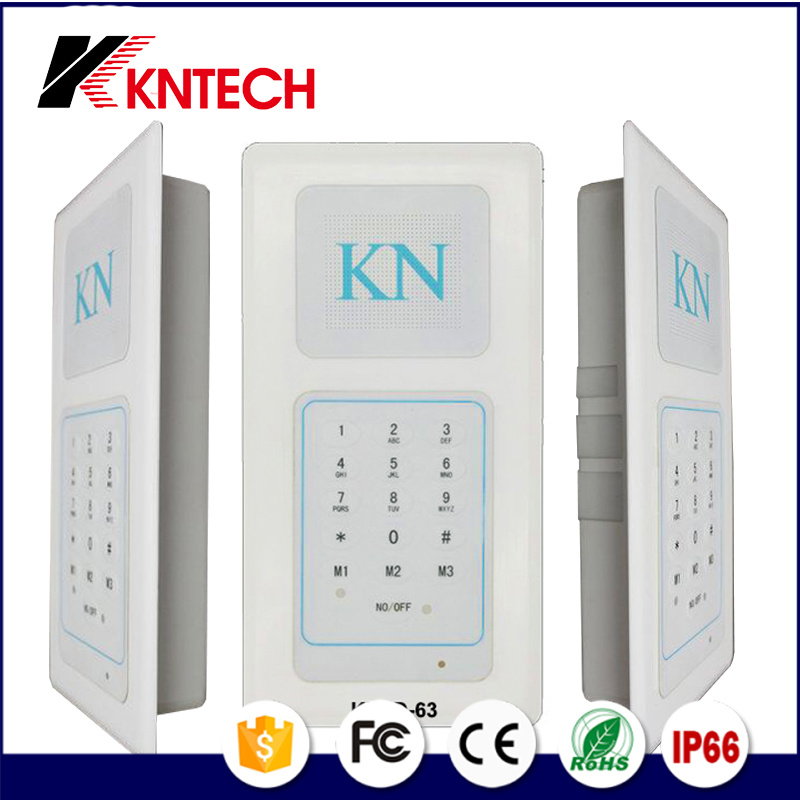 Embedded Hands-Free Dedicated Telephone Knzd-63 Cleanroom Telephone Multi Zone Audio Intercom System