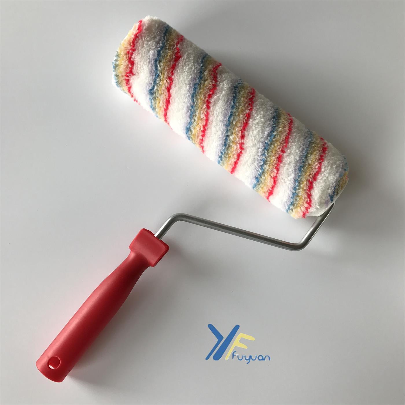 "9"" 10"" Acrylic Rainbow Stripe Roller"