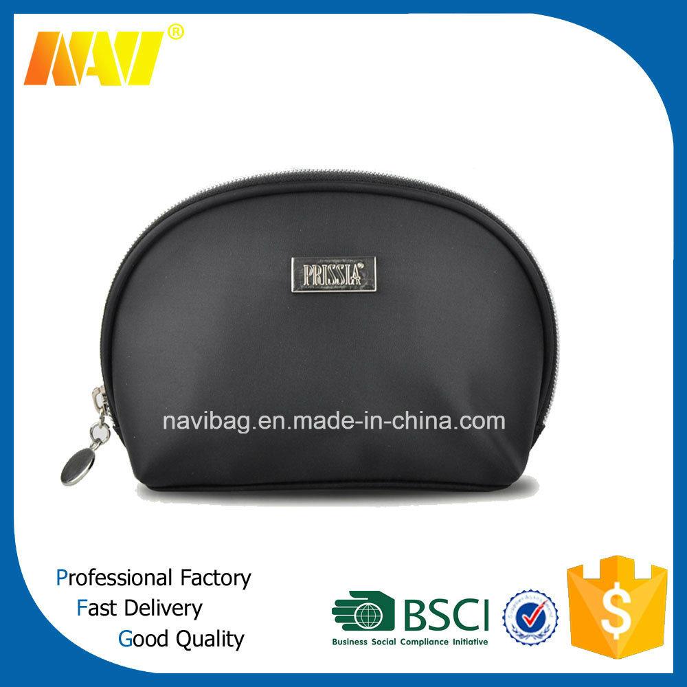 High Quality Black PU Leather Makeup Bag