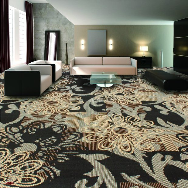 N374-Rolled 1/8 Nylon-PA6 Cut &. Loop Woven Full-Width Repeat Office/Hotel/House Carpet