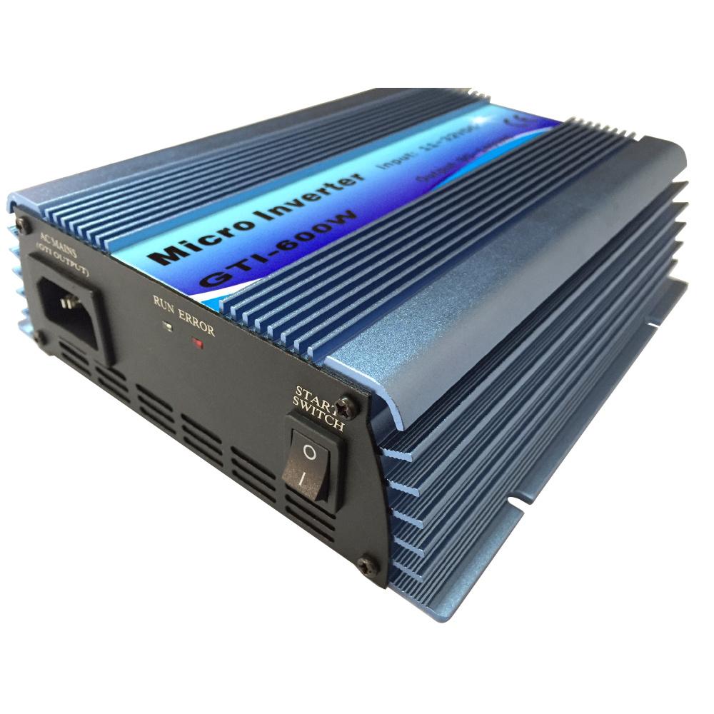 Gti-600W-18V-220V-B 11-32VDC-Input 220VAC-Output Pure Sine Wave Grid Tie Inverter