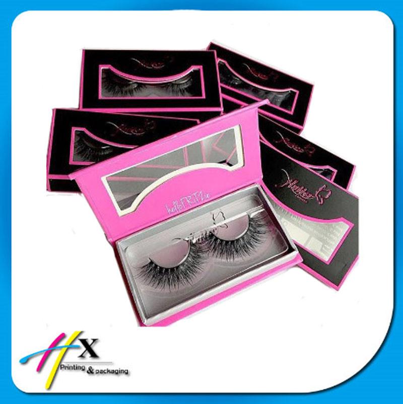 Custom Magnet Lid False Eyelash Packaging Box with Window