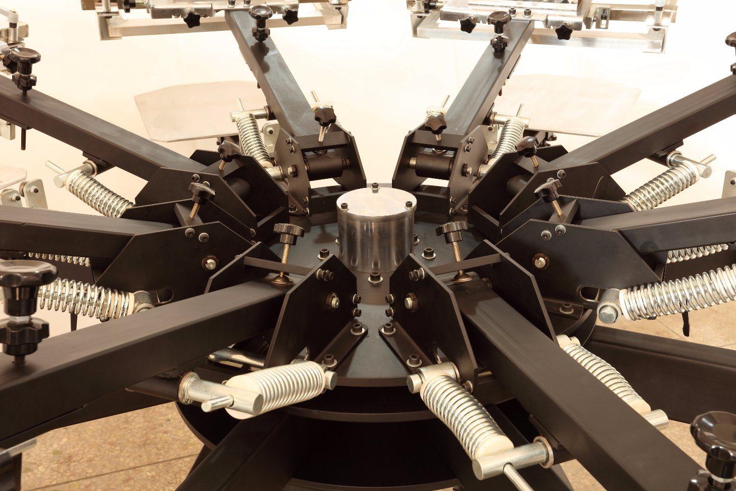 Heavy Duty T Shirt Micro-Registration Screen Printing Machine