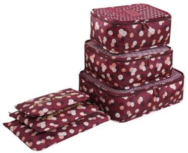 Wholesale Printed Collection Six Sets Travel Bag