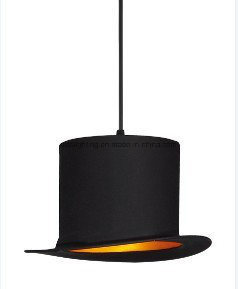 Modern Indoor Hanging Lighting Aluminum Industrial LED Hat Pendant Lamp
