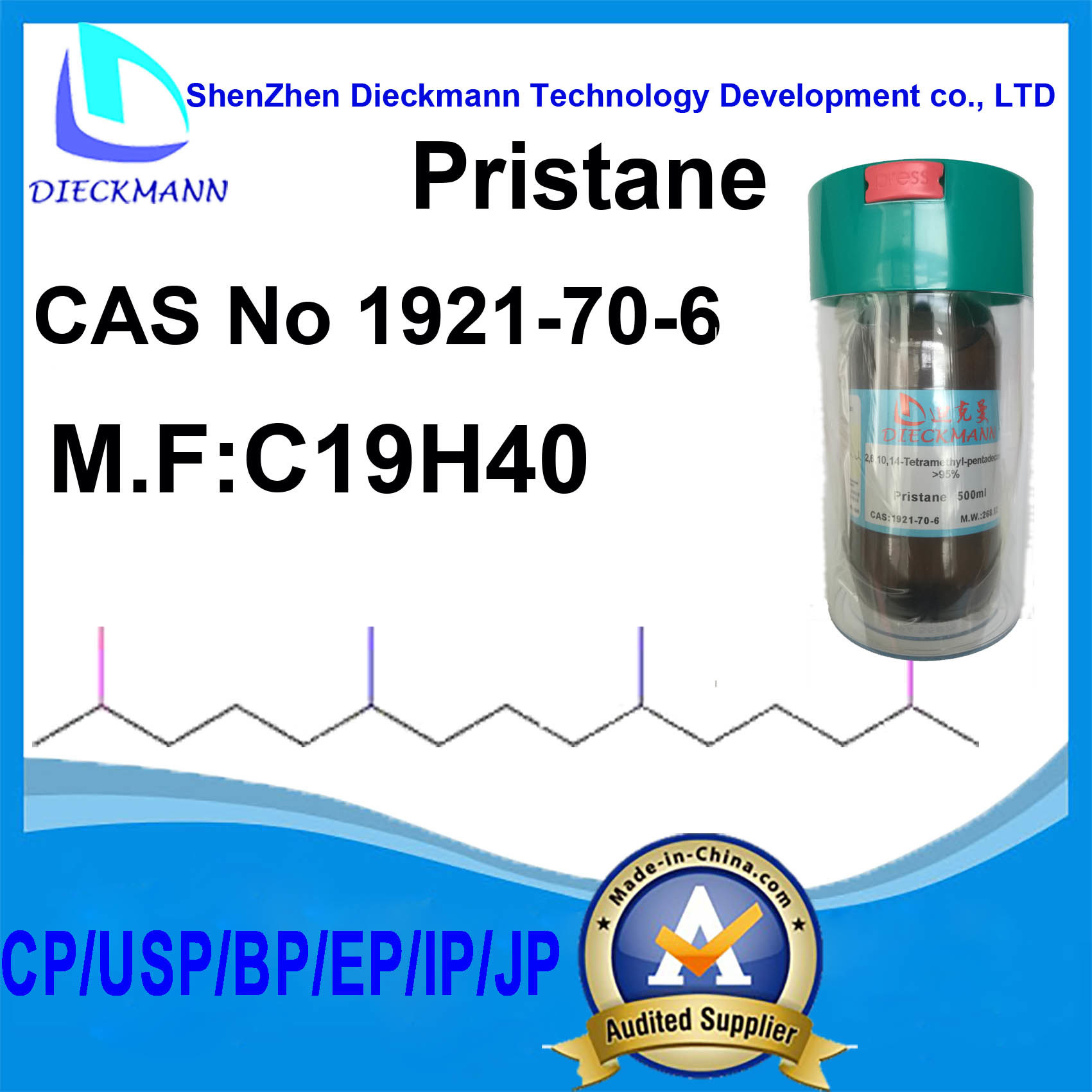 Pristane CAS No 1921-70-6 for Antibody Adjuvant