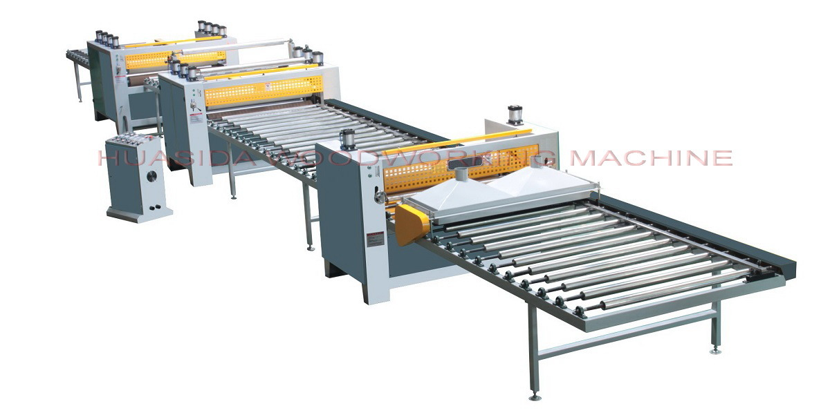 Woodworker panel coating machine for wood grain paper