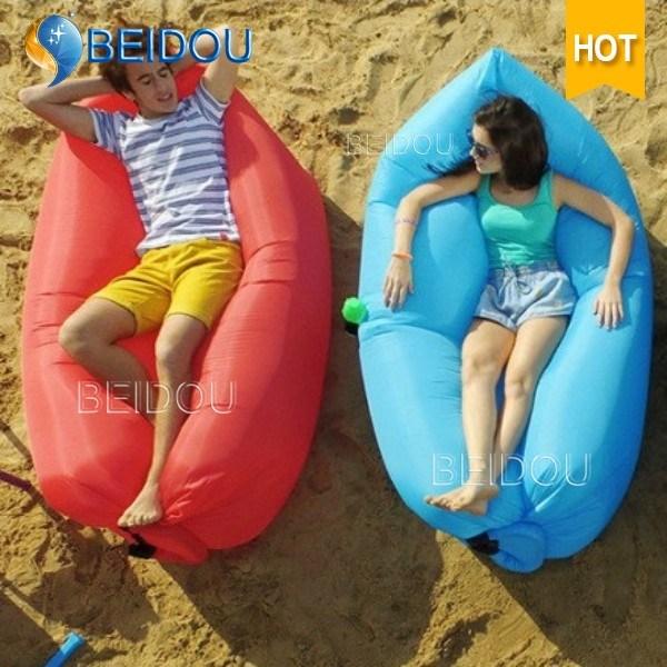 Outdoor Camping Sofa Chair Sleep Bag Inflatable Air Sun Lounger
