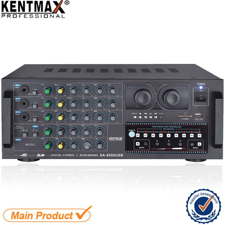 120W 220V Key Control Digital Stereo Amplifier with USB (SA-8500USB)