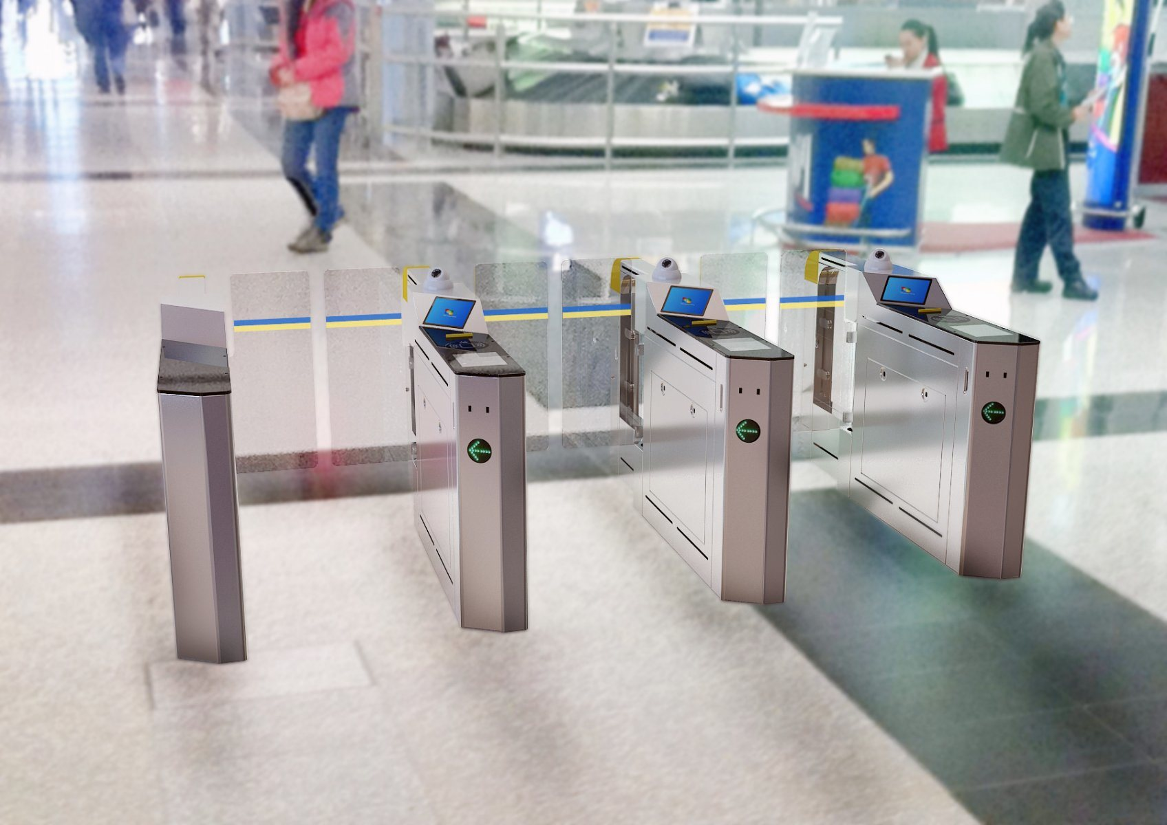 Access Control Automated Gate for Metro/Bus Station