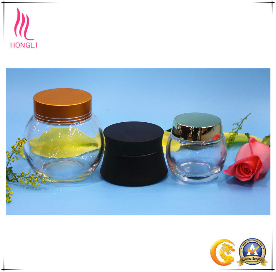 Clear Facial Mask Glass Packaging Cosmetic Bottles