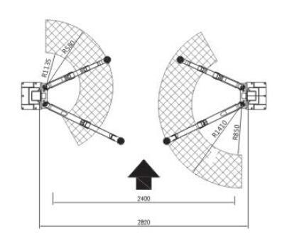 Asymmetric Column Clear Floor Lift -2 Post Car Lift (ORL-32CB)