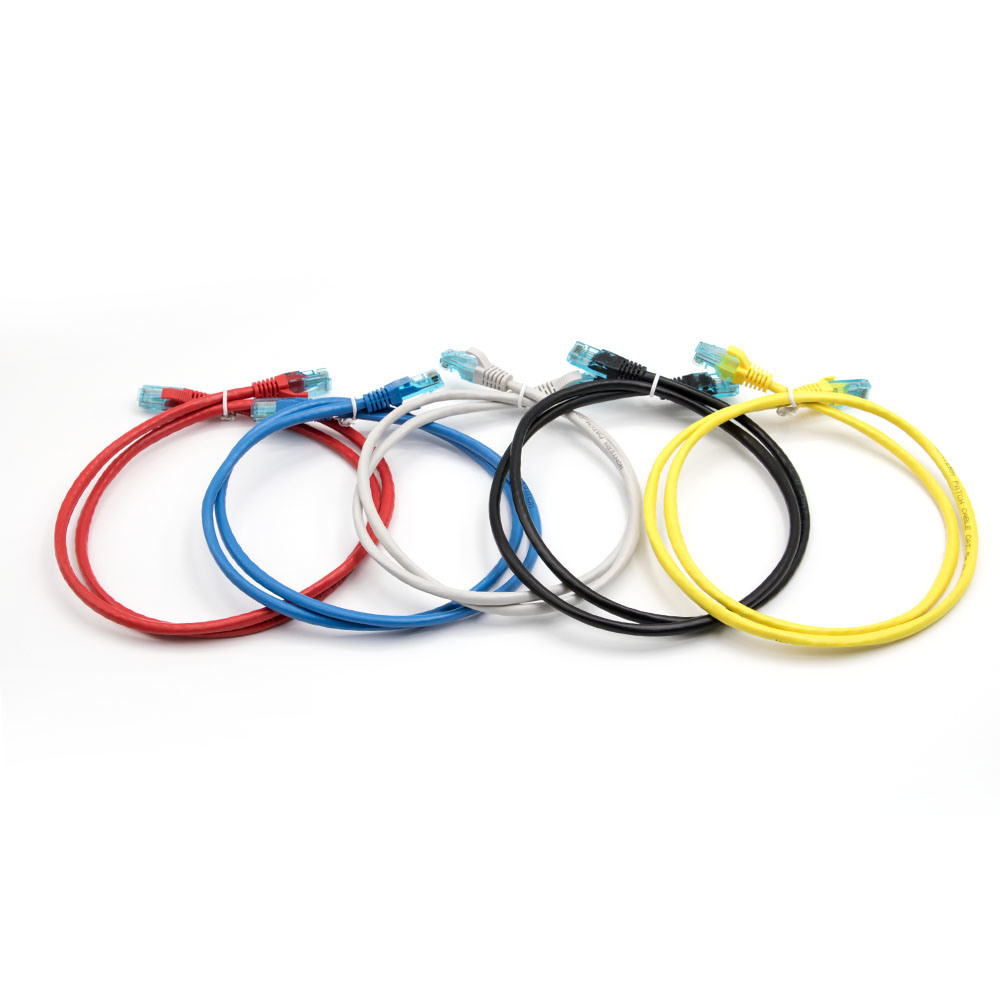 Patch Cable CAT6 UTP 7*0.2mm Packing of 5 Black / Blue / Grey / Red / Yellow