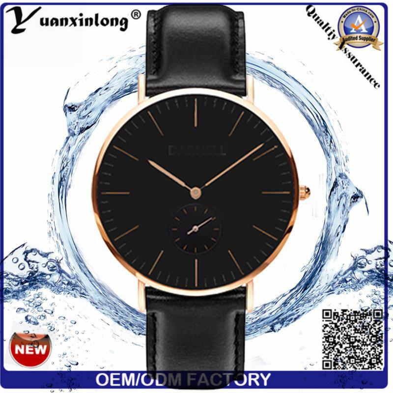 Yxl-327 2016 Fashion Japan Movt Quart Mens Wrist Watch Pormotional Leather Clock Watches Custom OEM Dw Style Watch