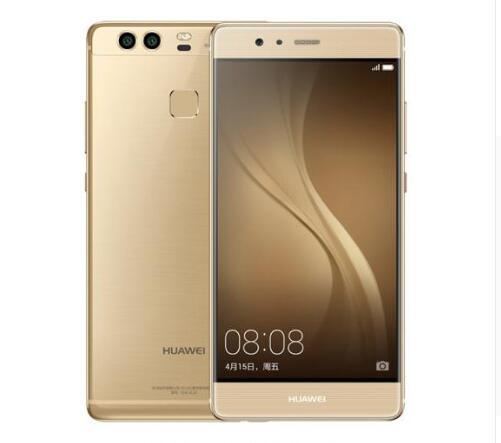 "Original Huawei P9 4G Lte Cell Phone Kirin 955 Android 6.0 5.2"" FHD 1080P 4GB RAM 64GB ROM Dual Back 12.0MP Camera Smart Phone Gold"