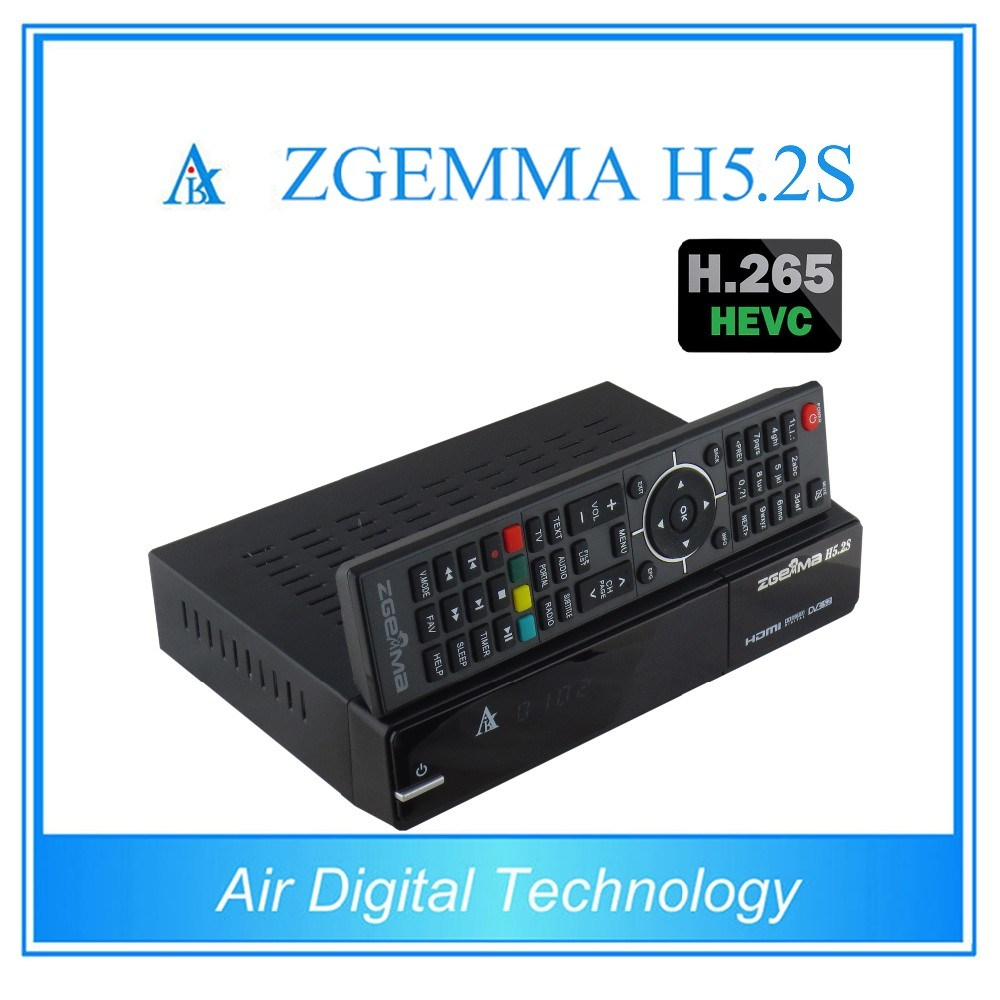 Worldwide Available TV Receiver Zgemma H5.2s Linux OS Enigma2 H. 265/Hevc DVB-S2/S2 Twin Sat Tuners