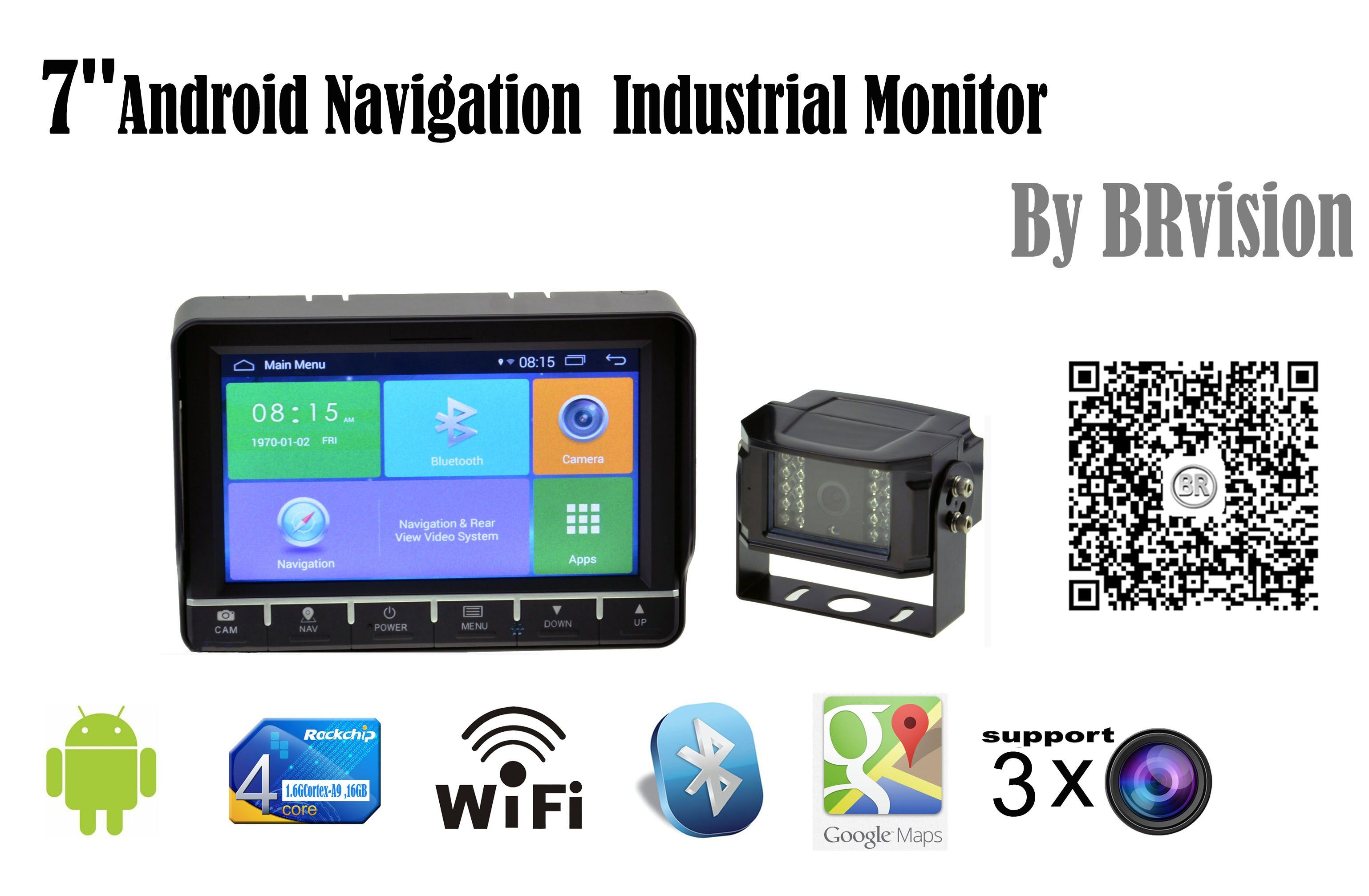 "7"" Android GPS Navigation System with WiFi, Bluetooth Function"