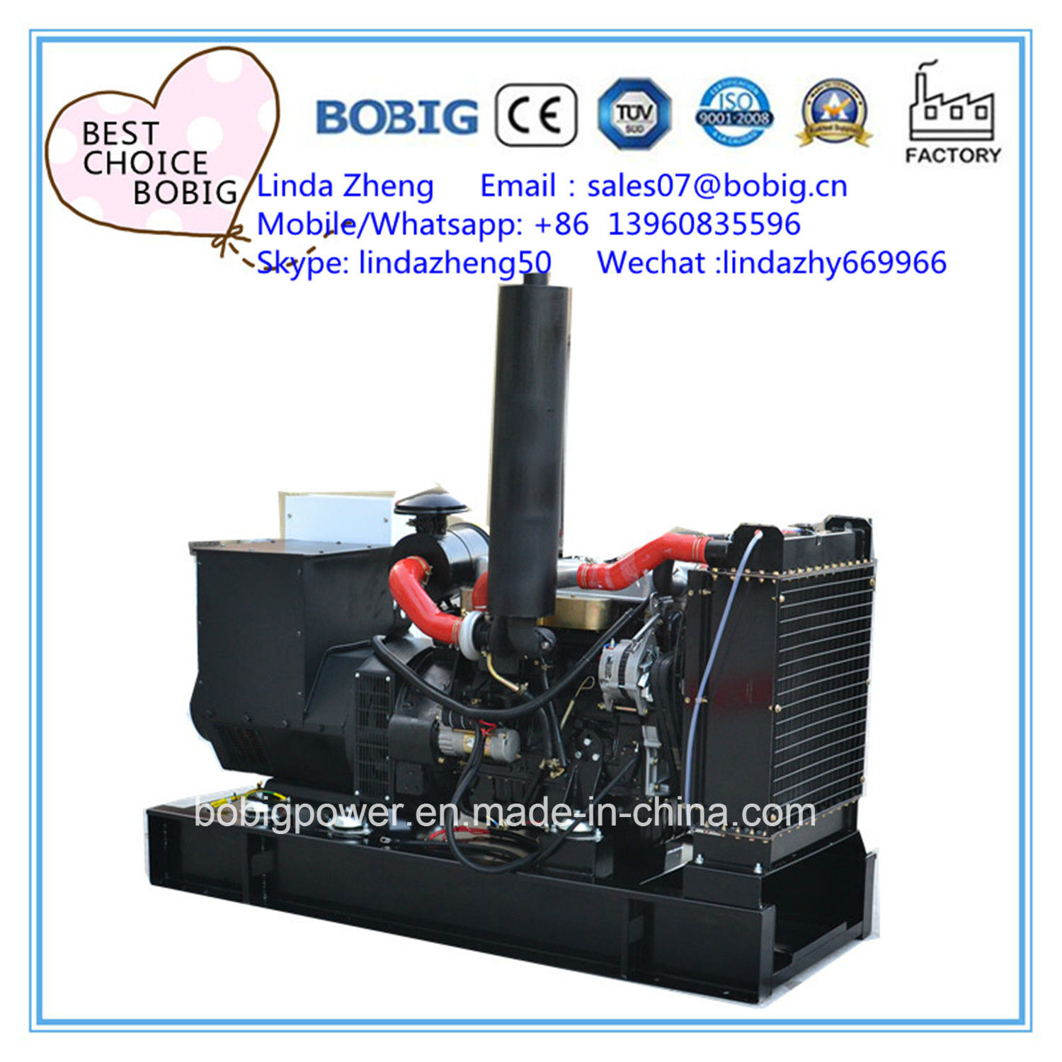 China 12kw 15kVA Silent Open Diesel Generator with Yangdong Engine