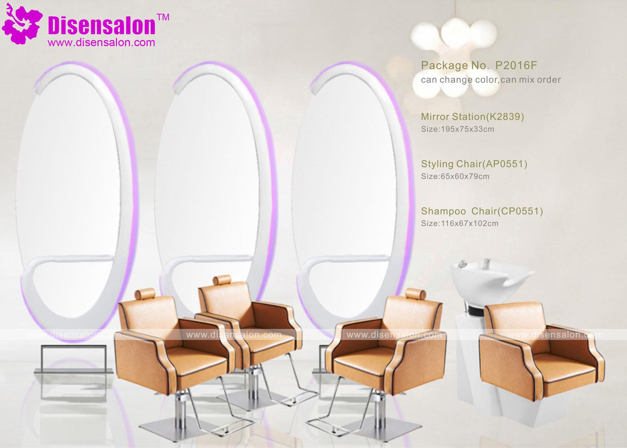 Popular High Quality Salon Furniture Mirror Barber Salon Chair (P2016E)