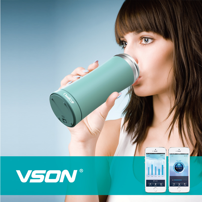 Healthy Bluetooth Smart Coffee Vacuum Cup Drinking Water Reminder Bottle with Temperature Display