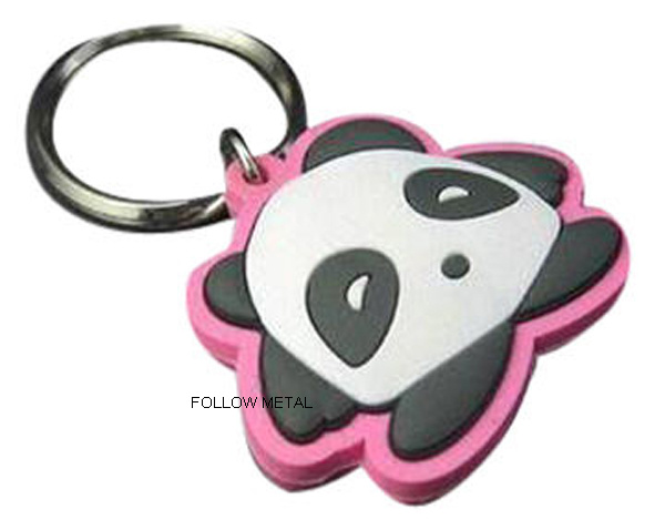 Rubber PVC Key Chain with Lovely Logo