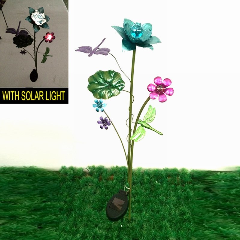 Solar Light Garden Decoration Metal Stake