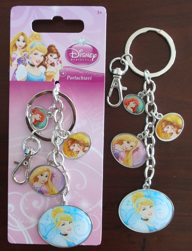 Promotional Gift Portachiavi- Princess Epoxy Logo Key Chains Rings Customerized Minnie Enamel Keyrings