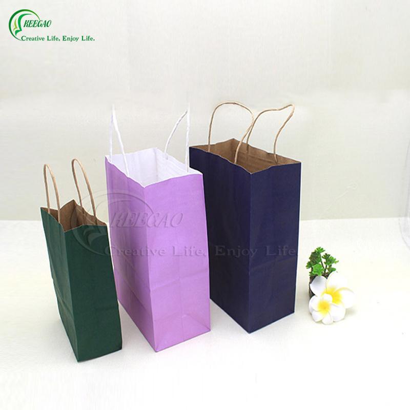 2017 Main Product Brown Kraft Paper Packaging Shopping Bag Kraft Paper Bag in Super Market (KG-PB018)