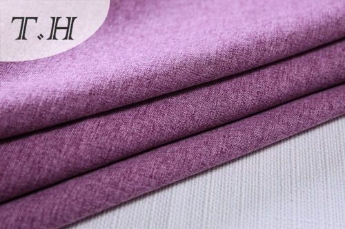 2017 Hot Sale Purple Color Linen Upholstery Fabric