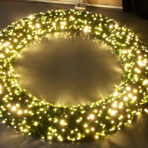 LED Christmas Pre Lit Wreath Christmas Garland for Holiday Decoration