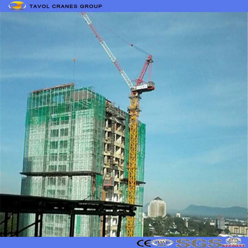 Construction Site Machines Luffing Jib Tower Crane