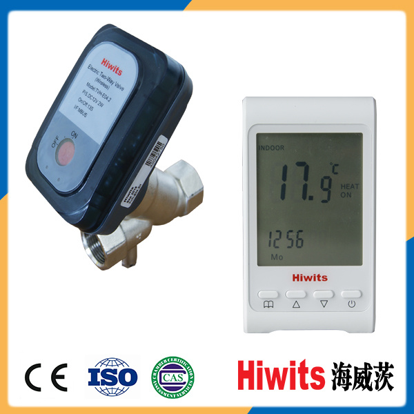 """Hiwits Brass 1/2""""-4"""" Two-Way Automatic Temperature Control Water Valve"""