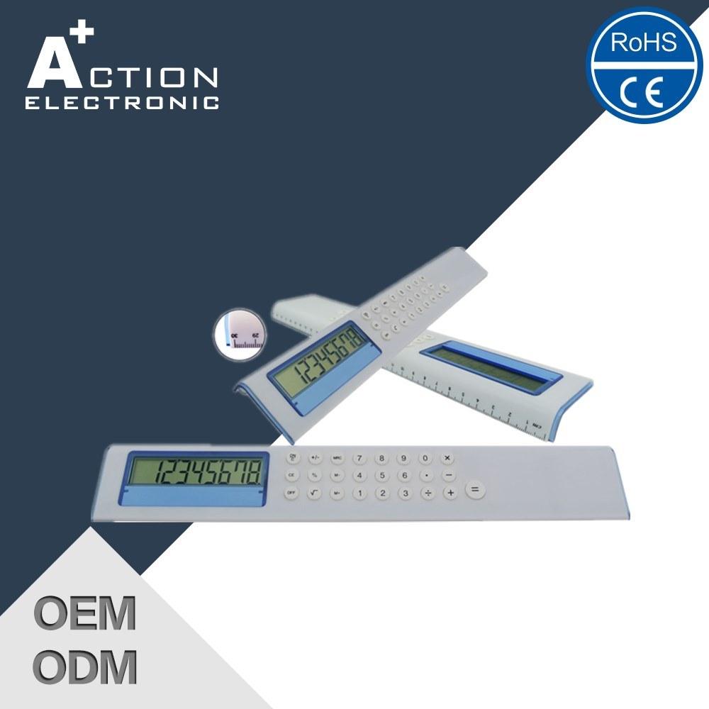 Unique Design LCD Screen 8 Digits Calculator with 30cm Ruler