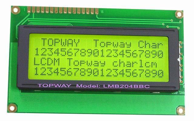 20X4 Character LCD Display Alphanumeric COB Type LCD Module (LMB204B)