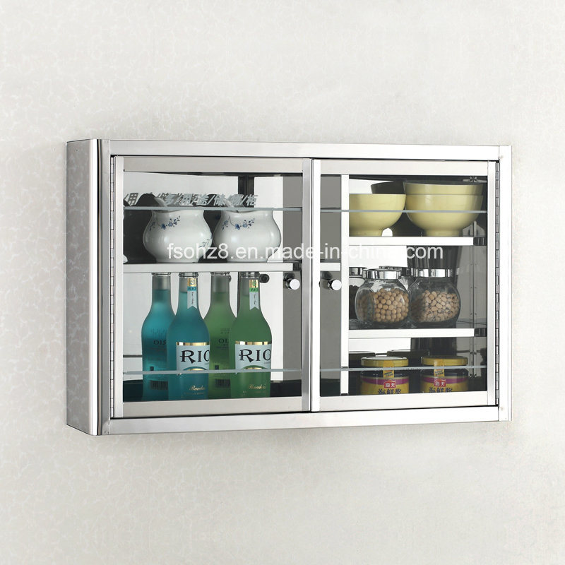 Classic Stainless Steel Kitchen Cabinet for Home and Hotel 7034