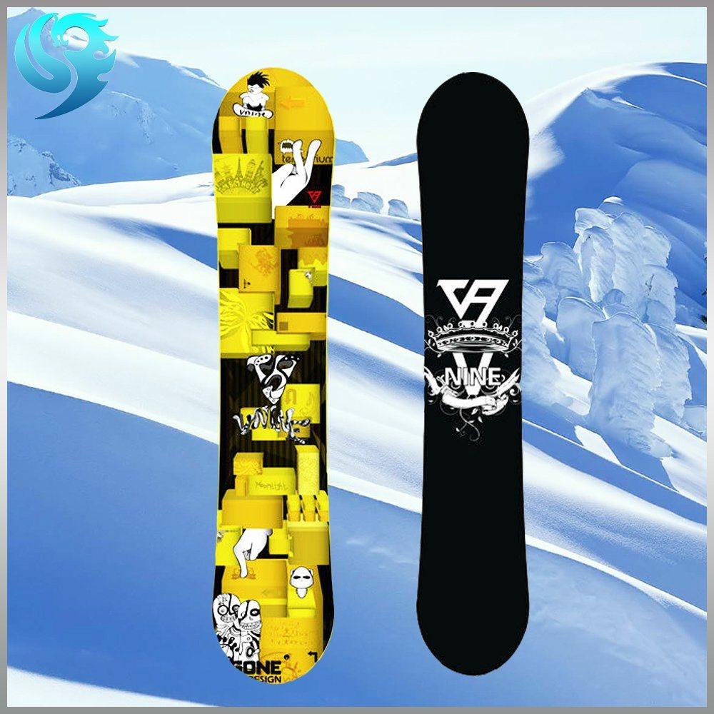 Mixed Wood Printed Design Professional Custom Snowboard