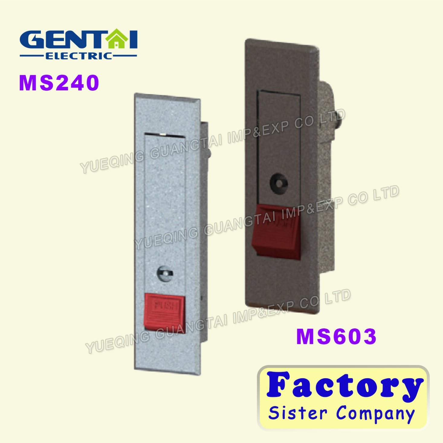 Ms380 Top Sells Cheap Portable Mortise Lock with Brass Keys