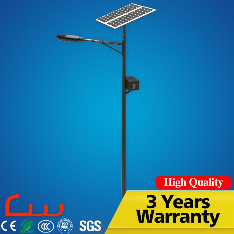 7m Galvanized Post 50W Outdoor LED Solar Street Lighting
