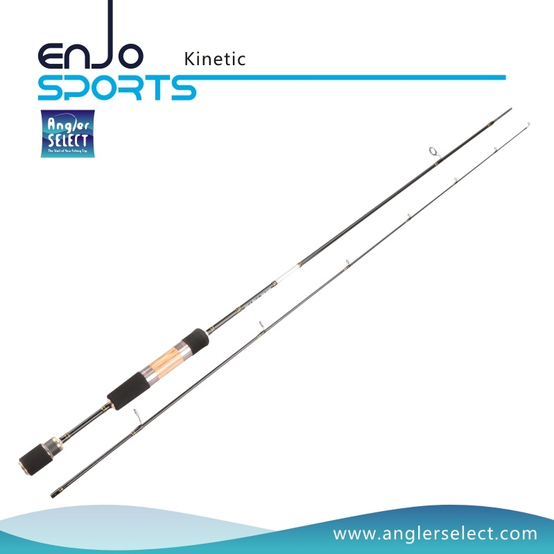 Kinetic 2-4 Sections Light Weight Carbon Fiber Fly Rods with FUJI Sic Guides