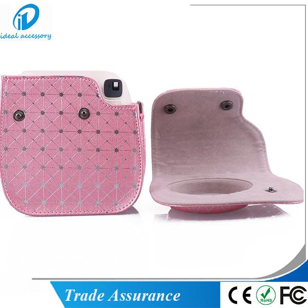 New Style Pink Stripe Fujifilm Instax Instant Mini8 Camera Case Bag