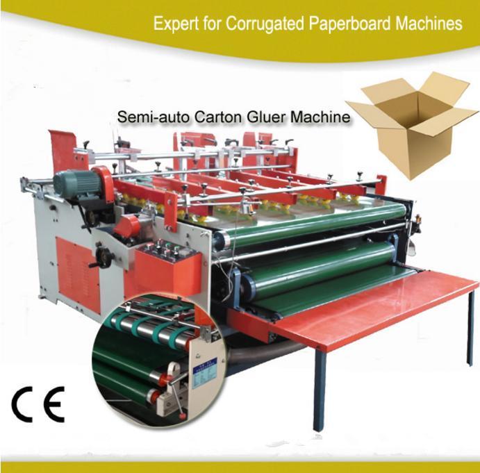 Semi Automatic Corrugated Cardboard Box Folder Gluer Machine