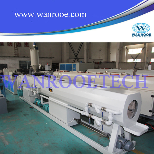 Single Screw Plastic Extrusion Production Line PVC PE Pipe Extruder Machine