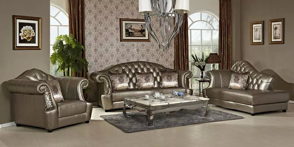 Modern Leather Sofa with Europen Style