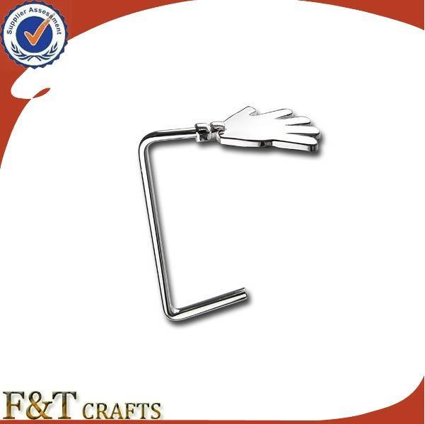 Cheap Custom Blank Nickel Metal Bag Purse Hanger Hook (FTBH9211J)