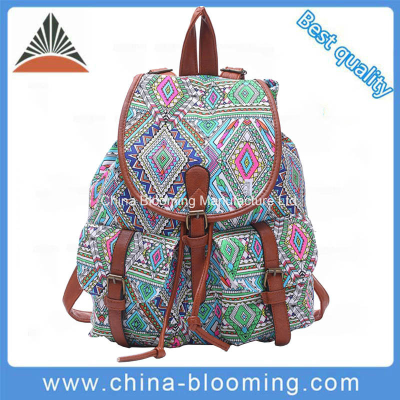 Sport Daypack Book School Drawstring Student Canvas Back Pack Bag