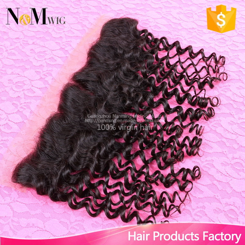 Human Hair Accessories Raw Unprocessed 13X4 Lace Frontal Hair Top Closure