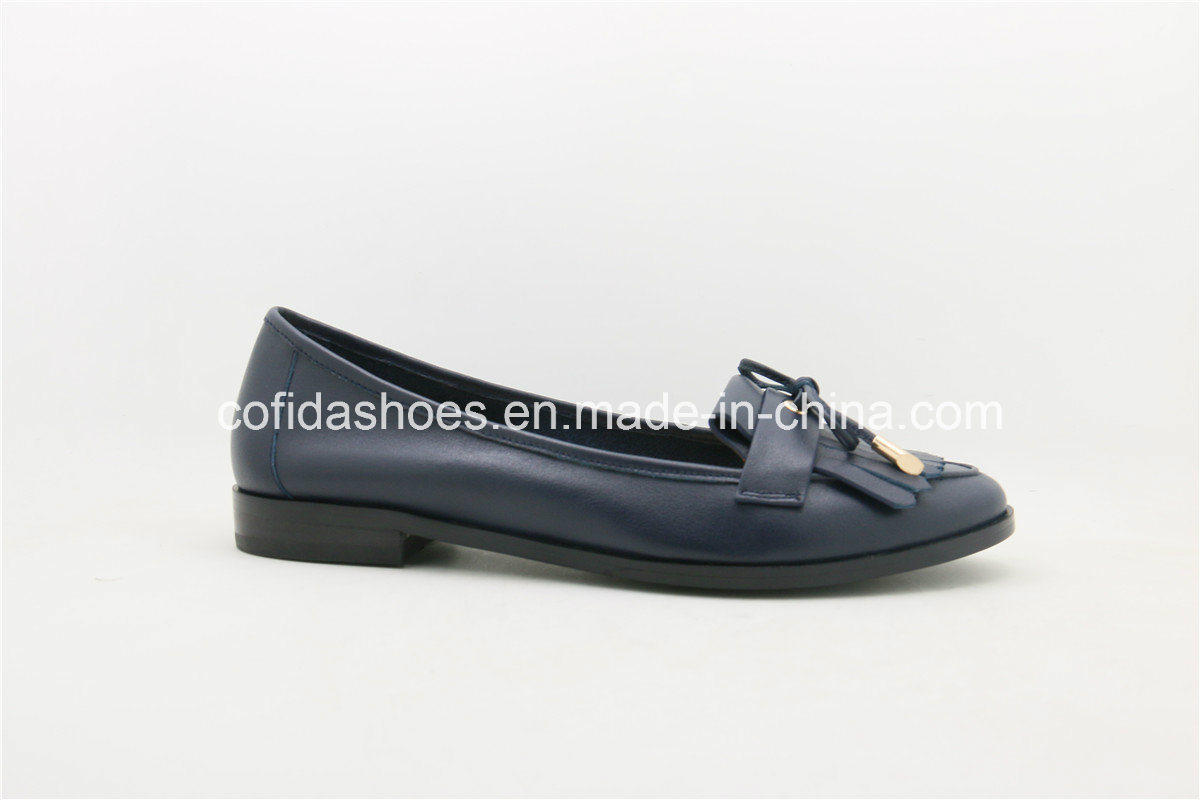 New Fashion Leather Lady Flat Shoes with Charming Design