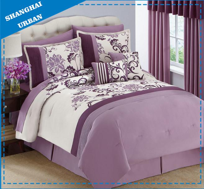 Polyester Print Patchwork Comforter (set)