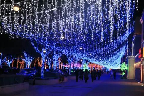 Christmas Tree Decoration LED String Curtain Light