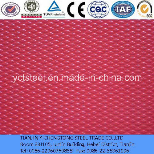 Color Coated Checkered Aluminium Plate with Diamond Design